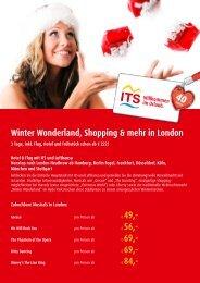 Winter Wonderland, Shopping & mehr in London - Colibri ...