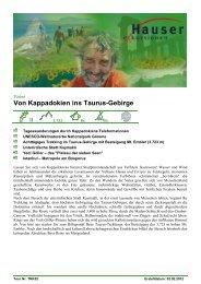 Von Kappadokien ins Taurus-Gebirge - Hauser exkursionen