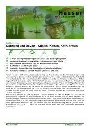 Cornwall und Devon - Hauser exkursionen