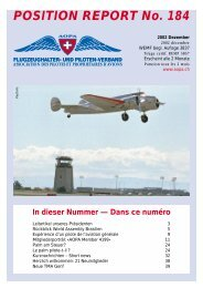 POSITION REPORT No. 184 - AOPA Switzerland