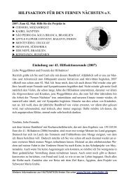 Rundbrief 2007 - Ferner-naechster.de