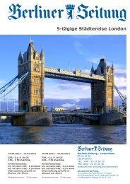5-tägige Städtereise London - Leserreisen - Berliner Zeitung