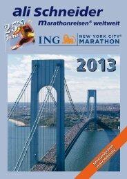 Den Prospekt zum ING New York City Marathon - Ali Schneider ...
