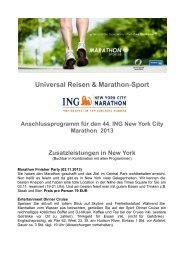 Universal Reisen & Marathon-Sport - New York Marathon