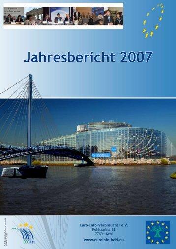 Jahresbericht 2007 - Europäisches Verbraucherzentrum Deutschland