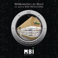Willkommen an Bord - MBI - Messebau GmbH