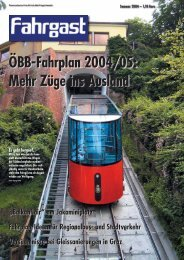 ÖBB-Fahrplan 2004/05: Mehr Züge ins Ausland - FAHRGAST ...
