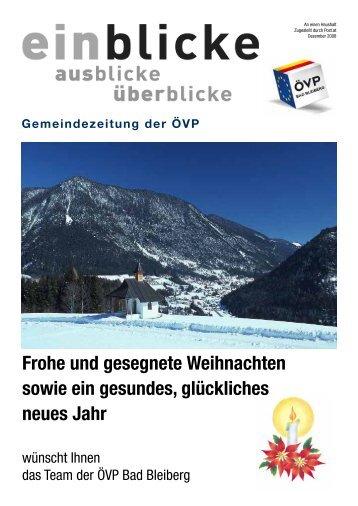 Frohe und gesegnete Weihnachten sowie ein ... - ÖVP Kärnten