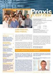 Ausgabe 10 / 2009 - Onkologische Schwerpunktpraxis Celle