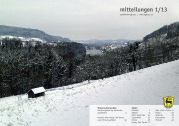 mitteilungen 1/13 - Gemeinde Eglisau