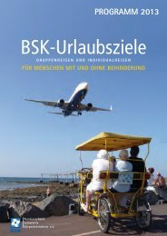 Reisekatalog 2013 - Bundesverband Selbsthilfe Körperbehinderter ...