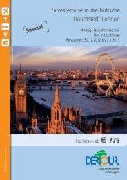 Silvesterreise in die britische Hauptstadt London