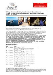 8 Tage Christmas-Cruising London mit der ... - Scharff-Reisen.de