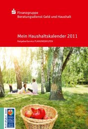 Mein Haushaltskalender 2011 - Sparkasse Osterode am Harz