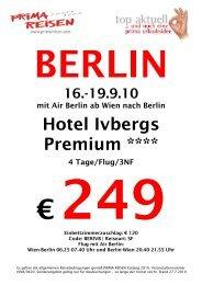 19.9.10 mit Air Berlin ab Wien nach Berlin Hotel Ivbergs Premium ...