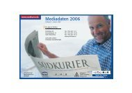 Mediadaten 2006 Mediadaten 2006 - Südkurier
