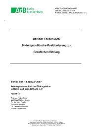 Berliner Thesen 2007 Bildungspolitische Positionierung zur