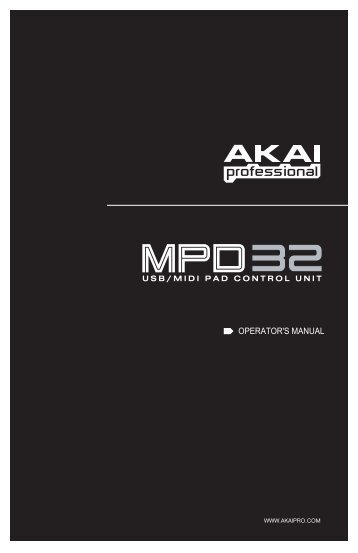 MPD32 - Reference Manual - zZounds.com
