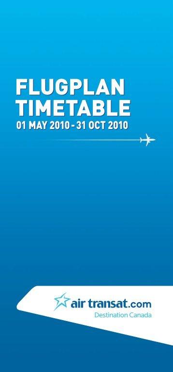 FLUGPLAN TIMETABLE FLUGPLAN TIMETABLE