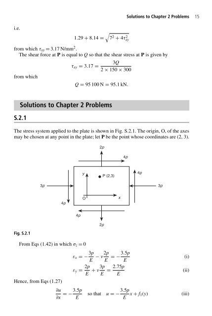 Solutions To Chapter 2 Problems