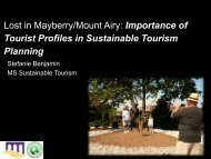 Lost in Mayberry/Mount Airy: Importance of Tourist Profiles in ...