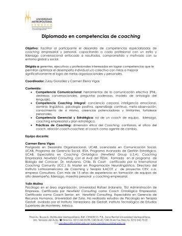 Diplomado en competencias de coaching