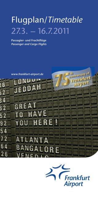 Flugplan/Timetable 27.3. – 16.7.2011 - Flugplan 2013-1