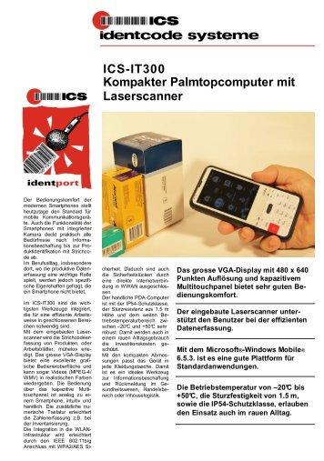 ICS-IT300 Kompakter Palmtopcomputer mit Laserscanner