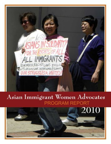2010 Program Report - Asian Immigrant Women Advocates