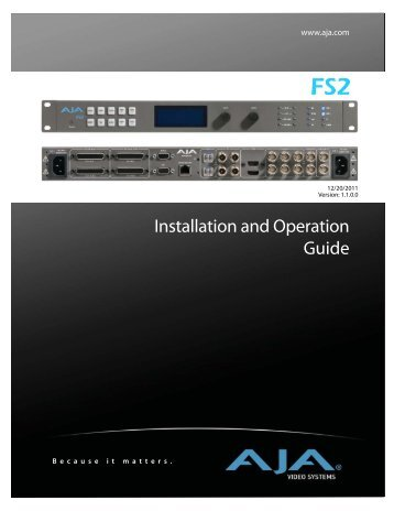 FS2 User Manual - AJA