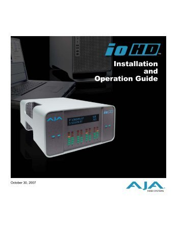 Installation and Operation Guide - Hollywood Studio Rentals