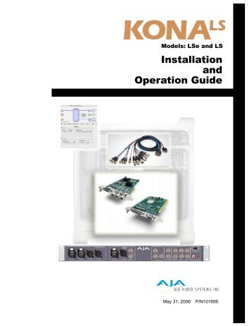 Installation and Operation Guide - Aja