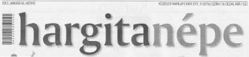 Sajtószemle 2012.01.16. - Hargita Megye Tanácsa