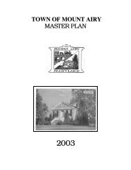 town of mount airy - Maryland Department of Planning