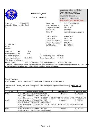 99964/00TS41CL.ECP: Spool-ID 823442-1 - Mazagon Dock Limited