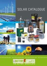 SOLAR cAtALOgue - Battery Supplies