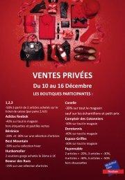 VENTES PRIVÉES Du 10 au 16 Décembre 1,2,3