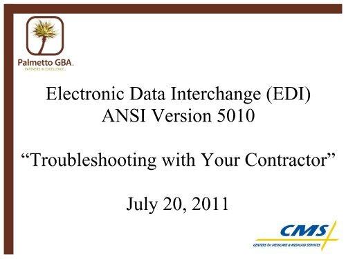 EDI) ANSI Version 5010 - Palmetto GBA