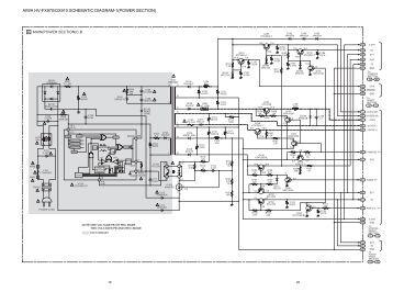 aiwa vx t1420 aiwa hv fx970 gx910 schematic diagram 1 power section