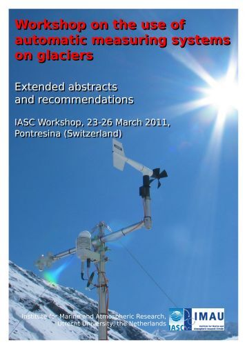 Workshop on the use of automatic measuring systems on glaciers