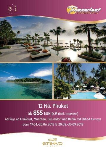 12 Nä. Phuket & Flug mit Etihad Airways - Transorient