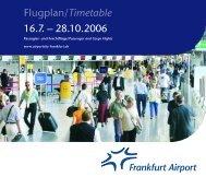 Flugplan/Timetable 16.7. – 28.10.2006