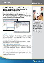 OpenText E-Mail Archiving for Lotus Notes [PDF - ImageWare AG