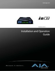 AJA IoXT Ops Manual v10.3 - ZTV Broadcast Services Inc.