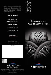 Summer and All-Season tyres