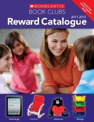 BOOK CLUBS Reward Catalogue - Scholastic Canada