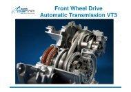 Front Wheel Drive Automatic Transmission VT3 - Punch Powertrain