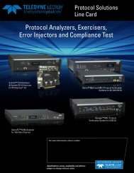 Protocol Analyzers, Exercisers, Error Injectors and Compliance Test