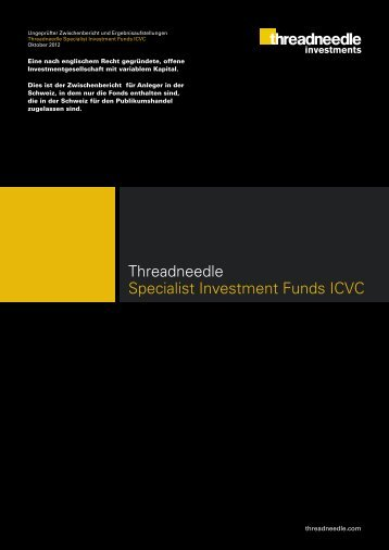 Threadneedle Specialist Investment Funds ICVC