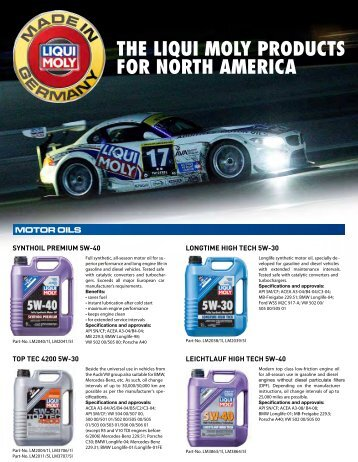 THE LIQUI MOLY PRODUCTS FOR NORTH AMERICA - WORLDPAC